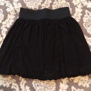 Black miniskirt